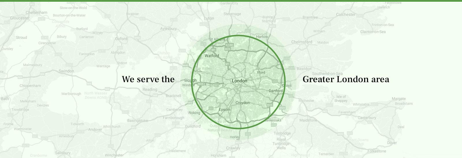 We serve the London area